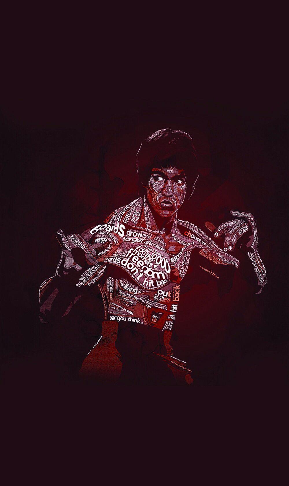 Bruce Lee Quotes Bruce Lee Typographic Portrait Twitter Header Image