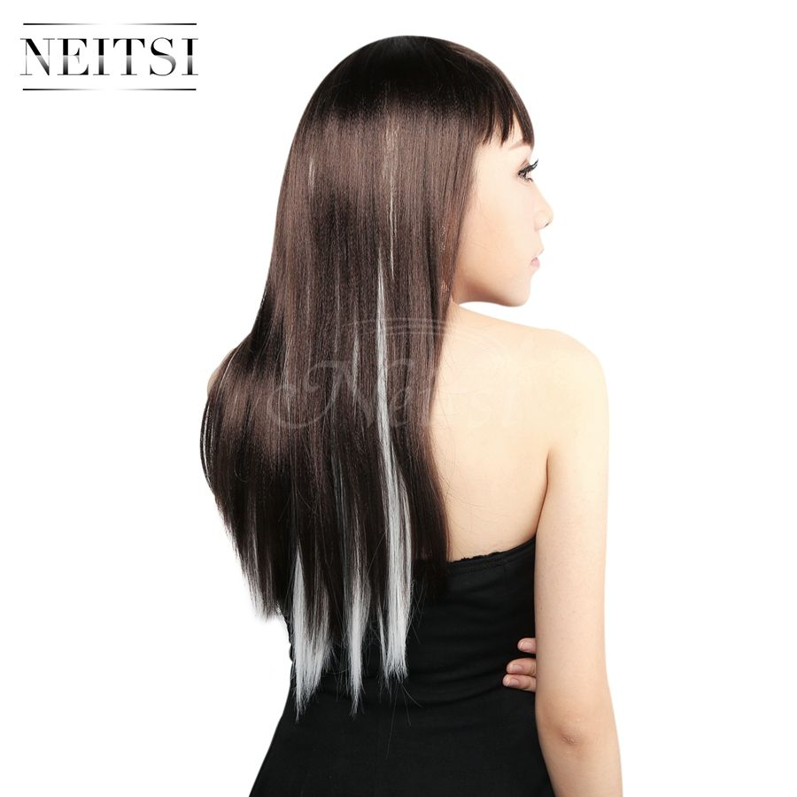 Neitsi synthetic highlight clip in on hair extension fashion new