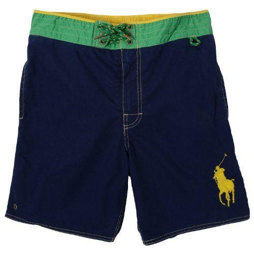 Polo Ralph Lauren Men/'s Big /& Tall Navy Solid Swim Trunks