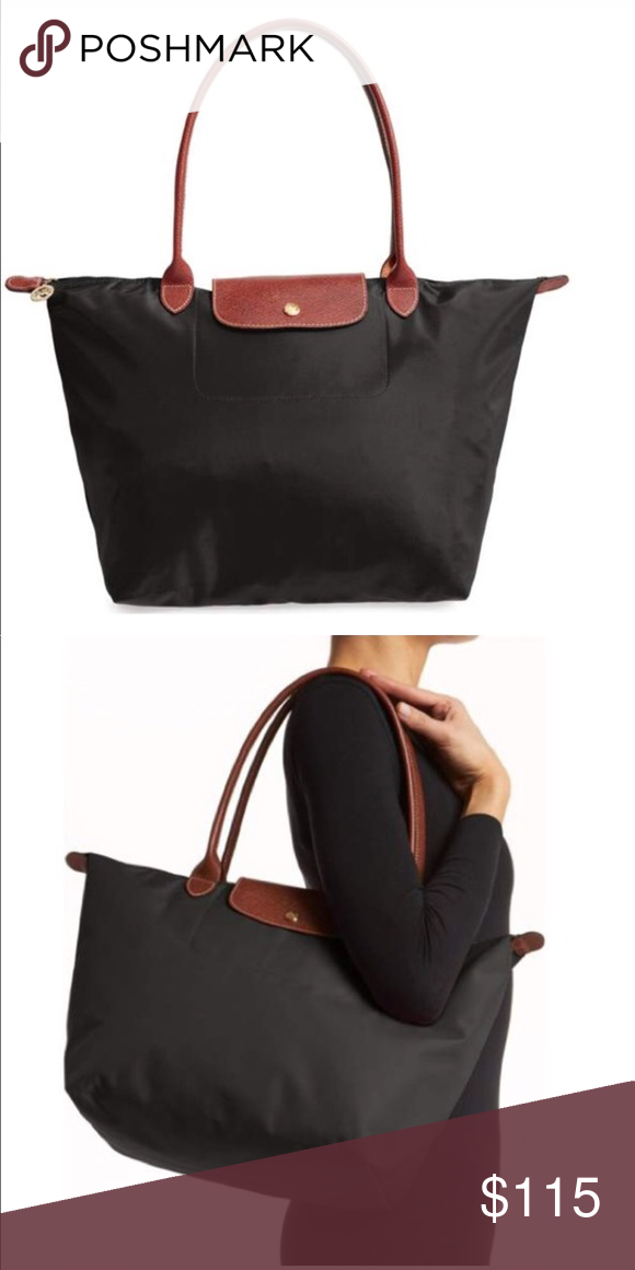 Longchamp Large Le Pliage Tote Longchamp Large Black I loved this bag!  Scuffing on the bottom of the bag   corners photos will be posted this  week, ... 2d6d4c79c1