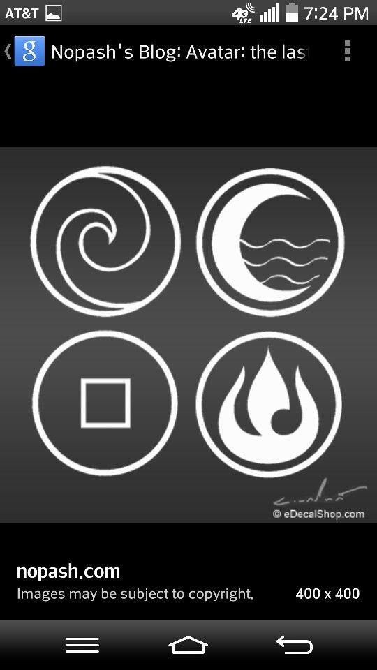 Avatar Nation Symbols Fire Earth Water Air Tattoo Ink Pinterest