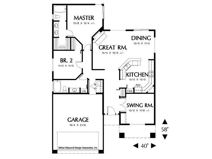 Plan 034h 0192 Craftsman Style House Plans House Plans Retirement House Plans