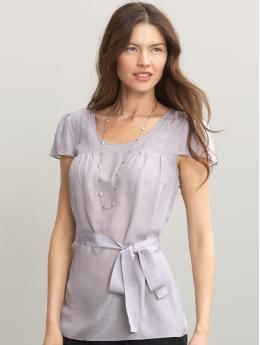 Silk Belted Blouse...love this color
