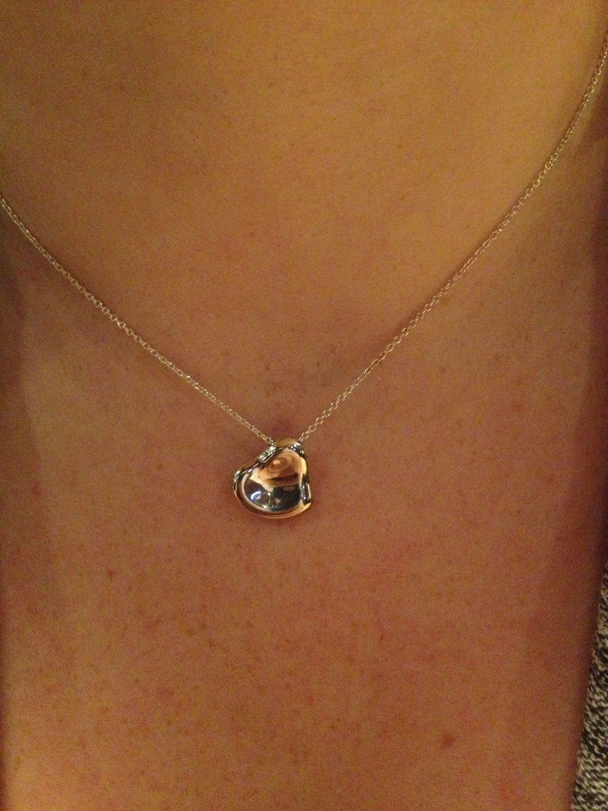 bdbd010fc (Elsa Peretti full-heart) necklace my boyfriend just surprised me with for  our anniversary!<3
