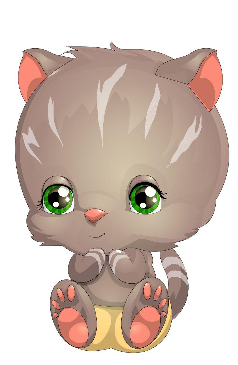 Cartoon Cute Dog Vector Free Vector Graphic Download Kitten Cartoon Cartoon Animals Animal Clipart Free