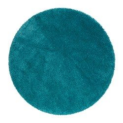 Ikea Ådum Rug High Pile Turquoise 130 Cm The Dense Thick Dampens Sound And Provides A Soft Surface To Walk On