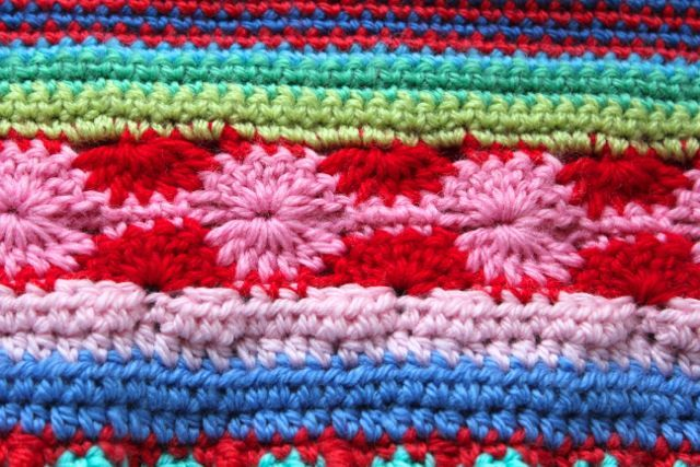 Little Woollie Mixed Pattern Blanket Crochet Along Update 3