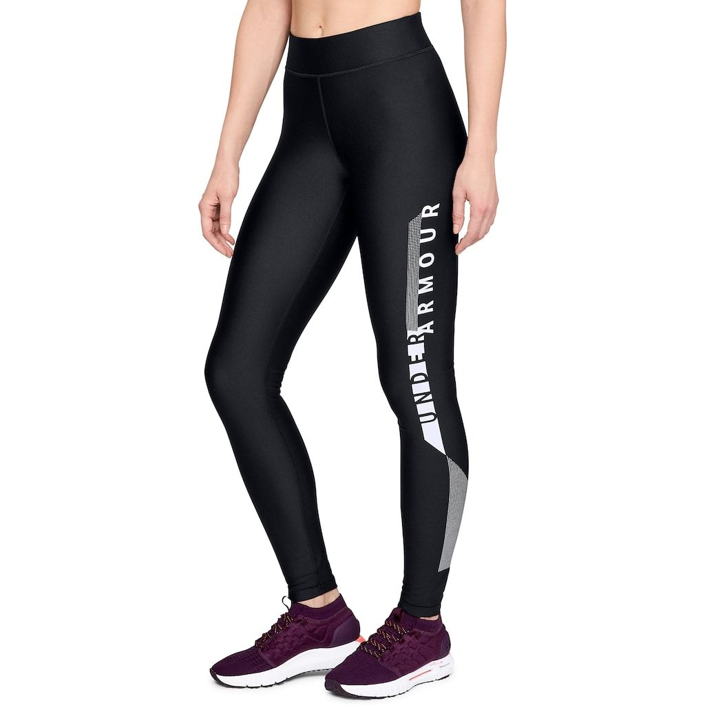 f53e5cbb82c27d Women's Under Armour HeatGear Graphic Mid-Rise Leggings, Size: Large, Black