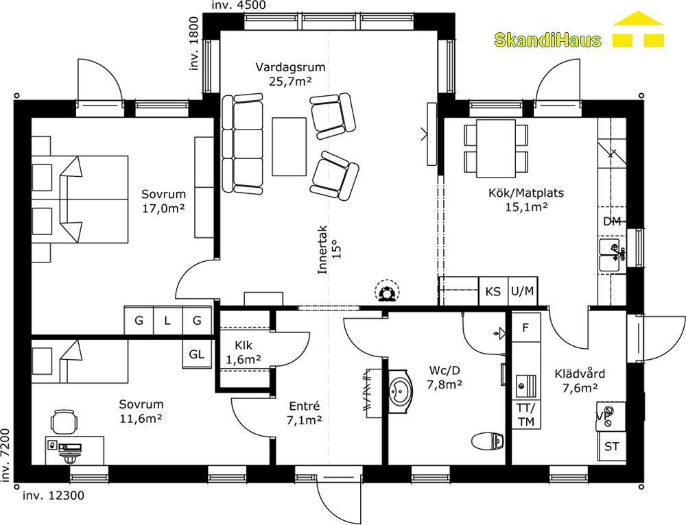 SkandiHaus Haustyp 94 Schwedenhaus, Hausbau grundriss