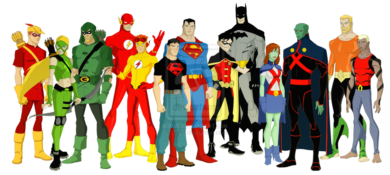 Cartoon Characters Justice League : Justice league i young by krosi viantart on