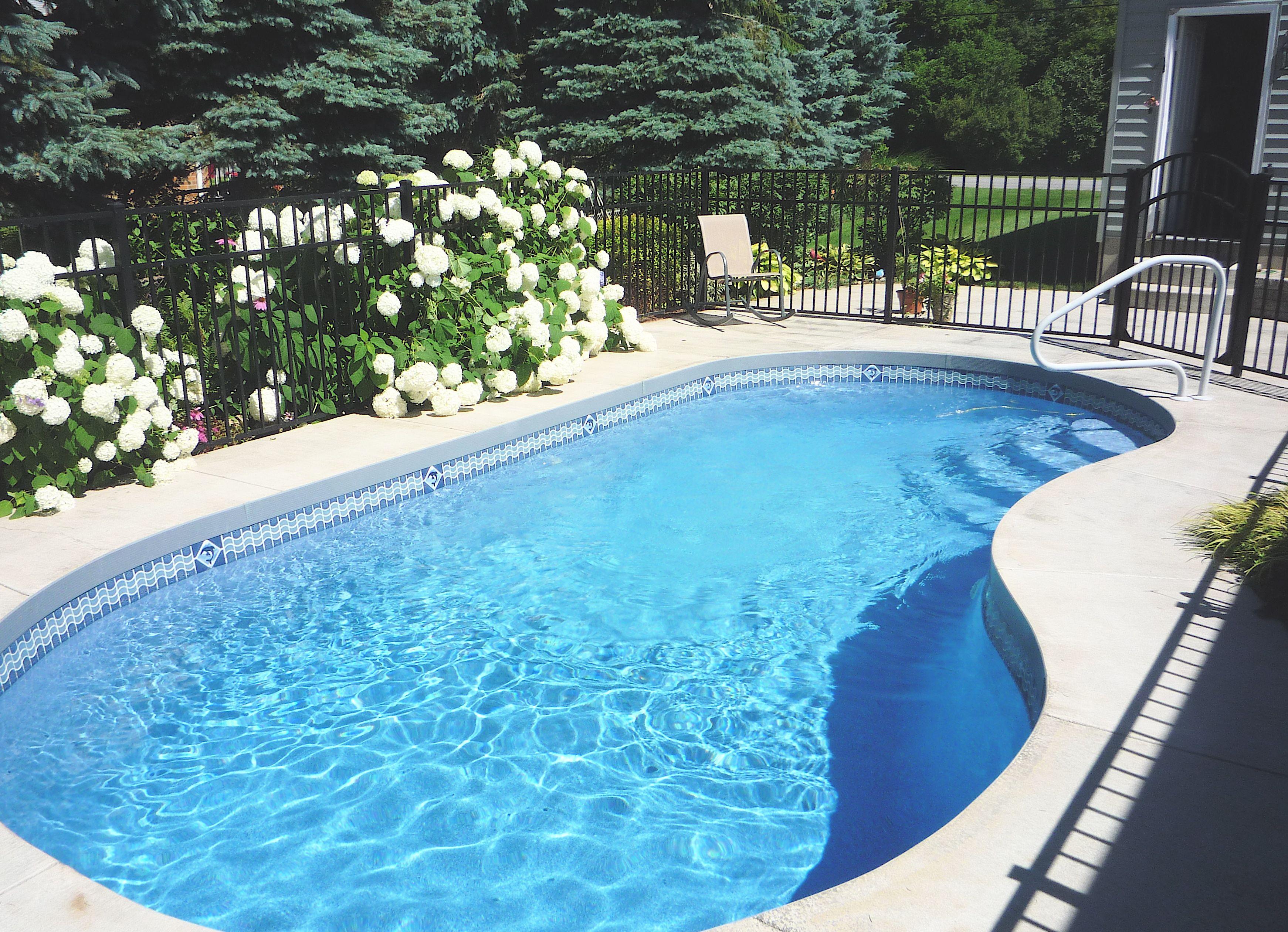 Viking 12 X 24 Suncoast Inground Pool Located In Akron Ny Pool Viking Pools Inground Pools
