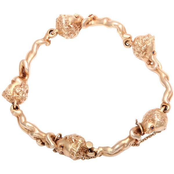 Pre-owned RUSER Delightful Child / Children of the Week Gold Bracelet (30,005 MYR) ❤ liked on Polyvore featuring jewelry, bracelets, charm bracelets, gold bangles, 14k gold bracelet, gold bracelet bangle, 14k yellow gold bracelet and yellow gold bracelet