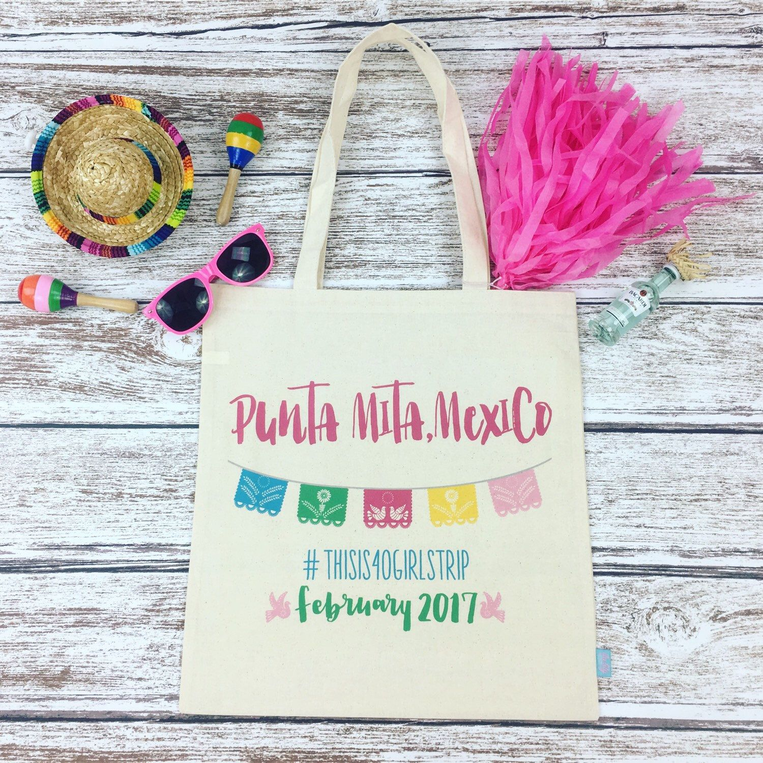 These adorable tote bags are off to Punta Mita, Mexico! Planning a ...