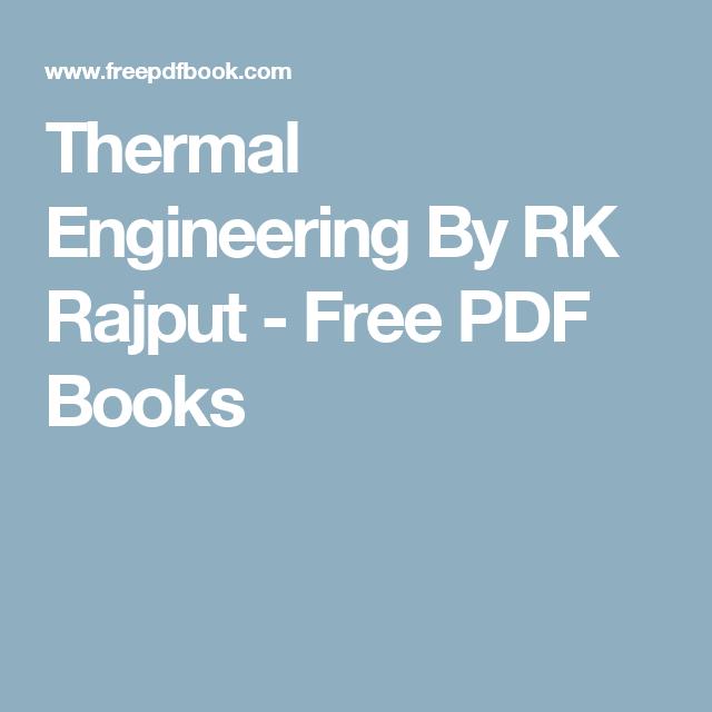 Thermal Engineering Books Pdf
