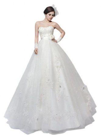 Passat Women's Lace Knee Length DressLace Long Sleeve Wedding Dress