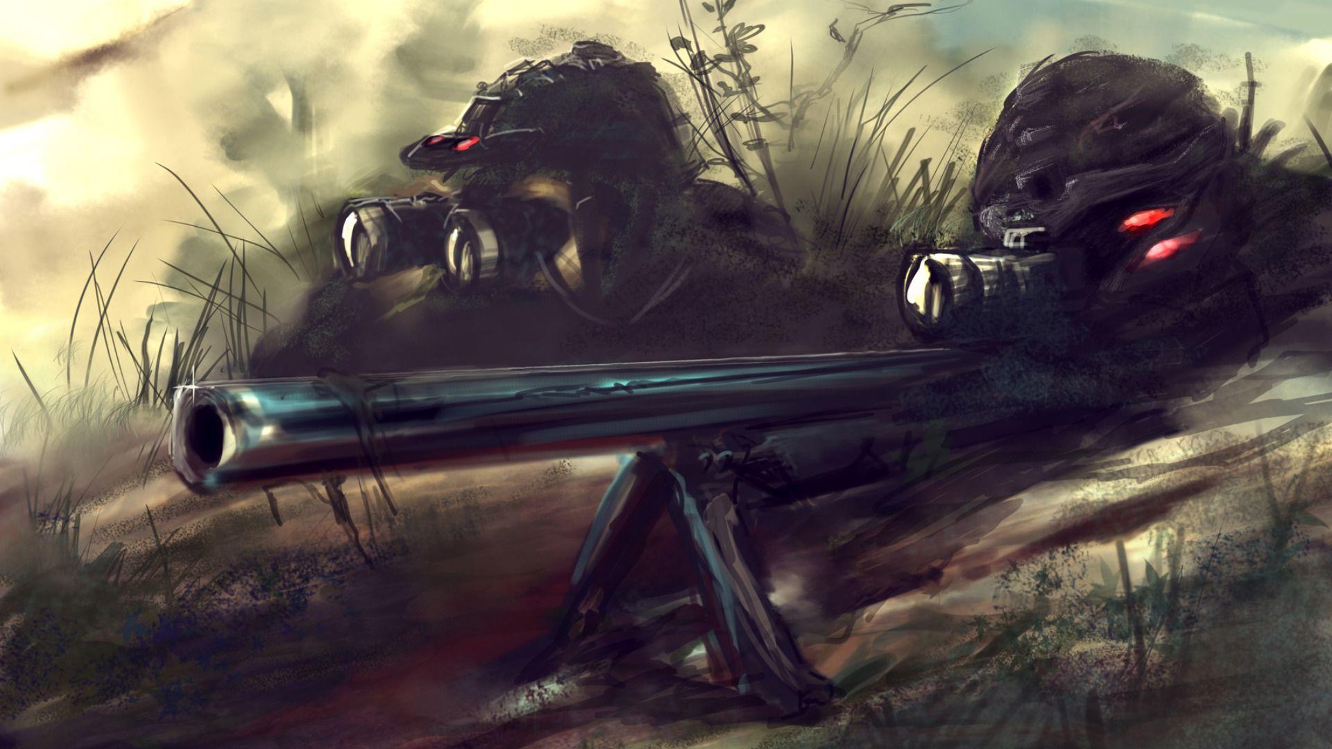 Sniper Art Military Wallpaper Sniper Desenho Desenho
