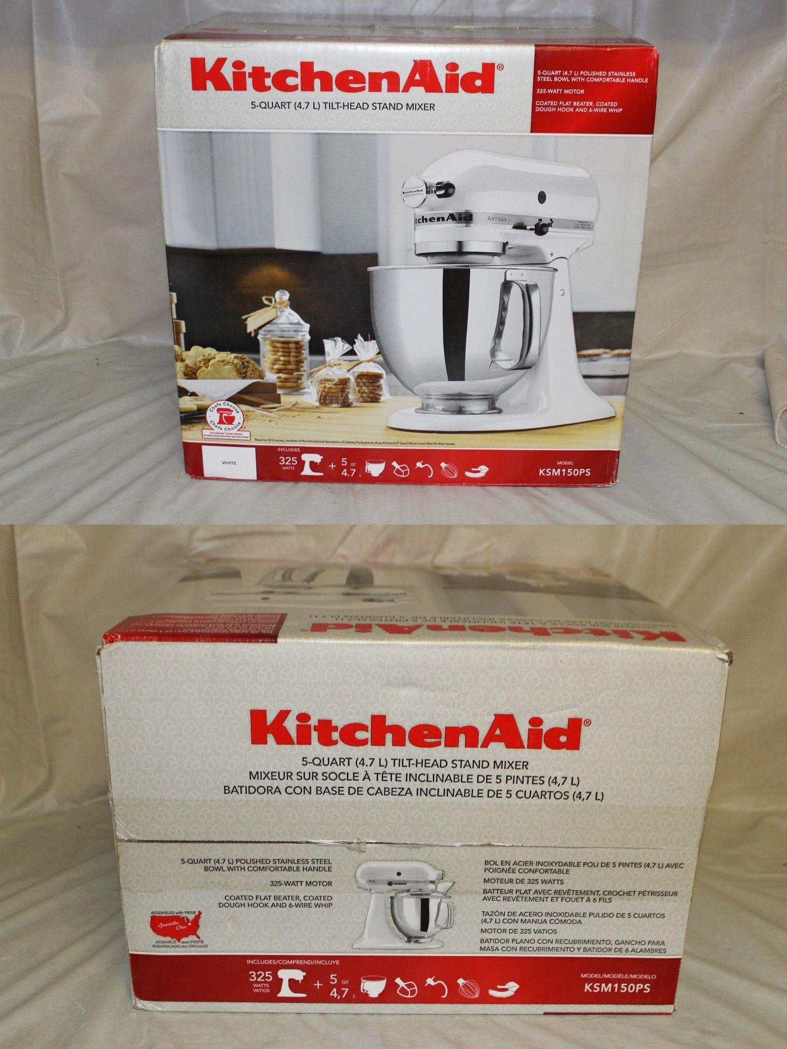 small kitchen appliances  kitchenaid artisan ksm150ps 5qt 325 watt tilt head stand mixer   new small kitchen appliances  kitchenaid artisan ksm150ps 5qt 325 watt      rh   pinterest com