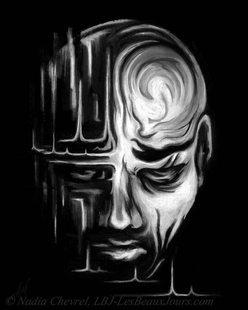 Peinture Portrait Noir Et Blanc Peintures James Dean Portrait En