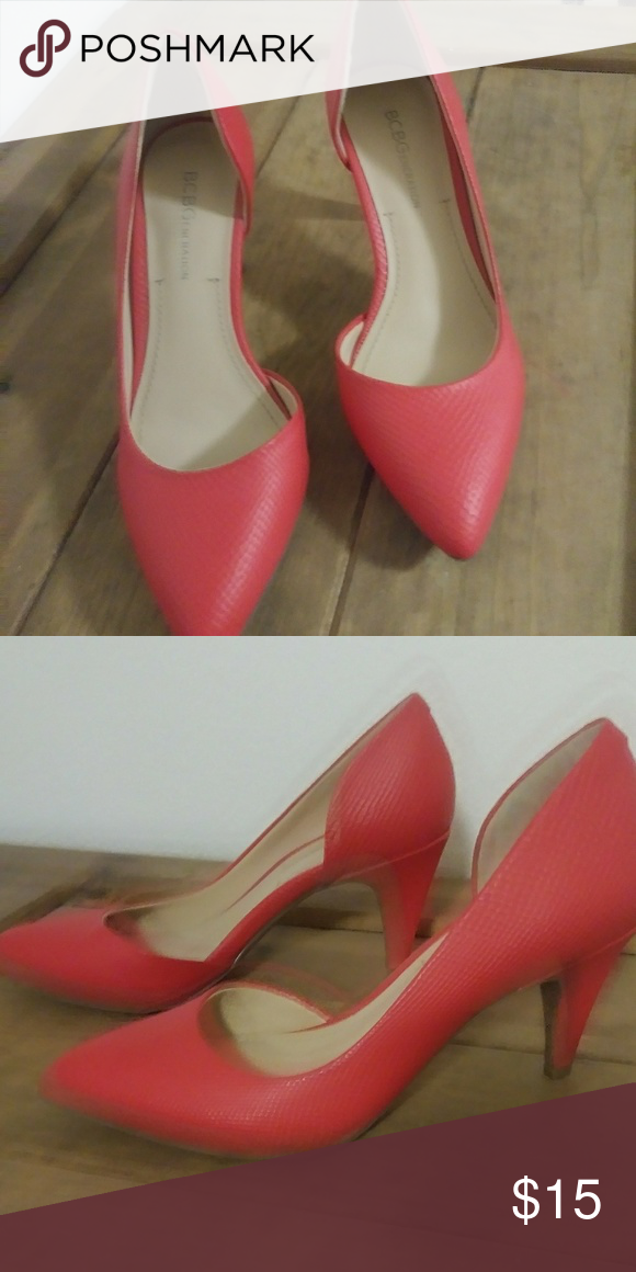 0c0f9e2ea84e 2 pair of heels 👠 5 1 2 size BCBGeneeation red pumps with 35 1 2 tall heel  Nd Worthington Dark brown
