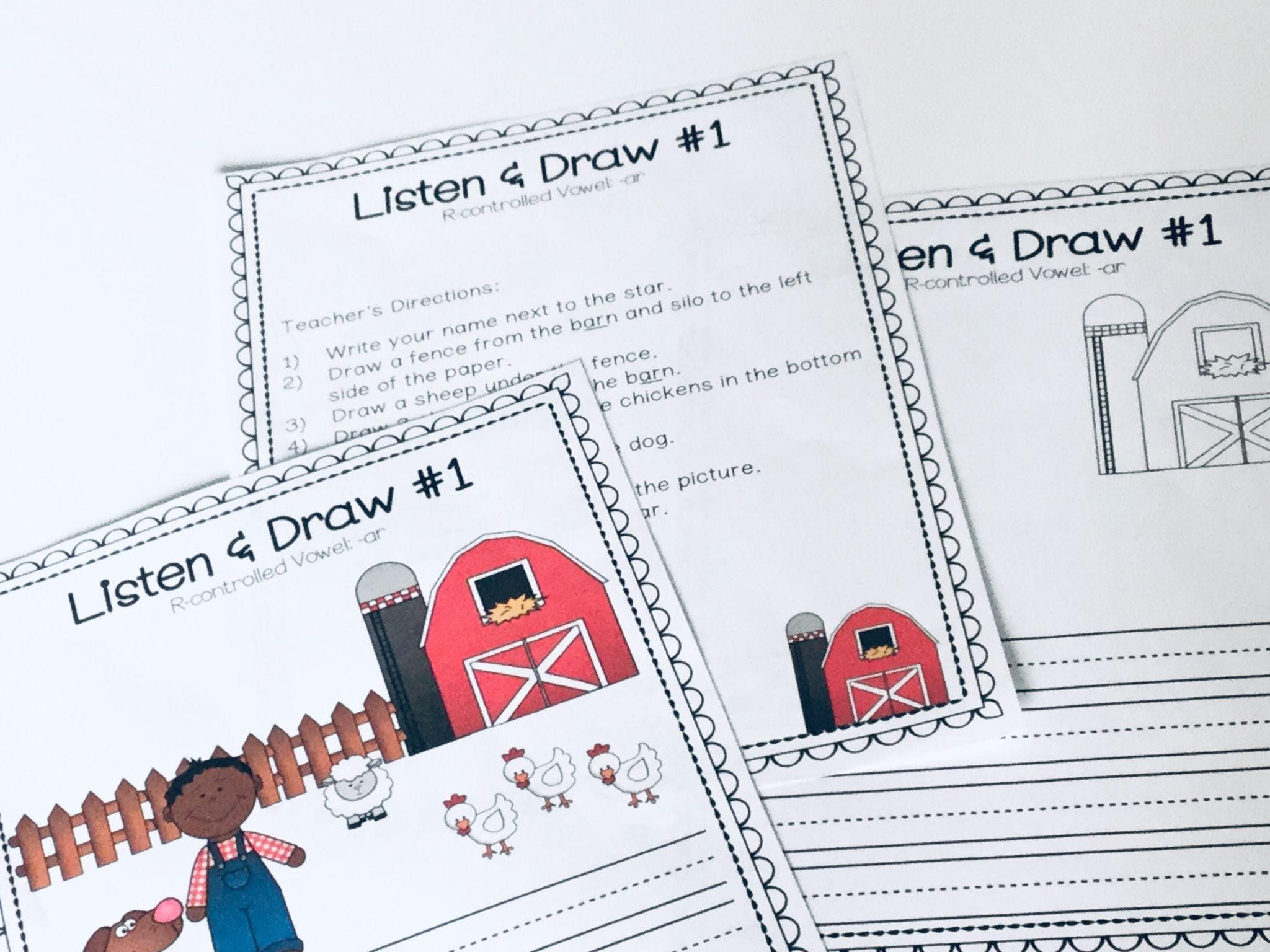 Listen And Draw R Controlled Vowels Listening And