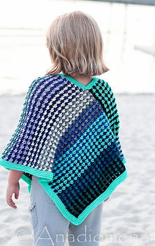 Ice Queen Poncho by Elena Nodel is a brilliant stash buster and great gift for your favourite girl.