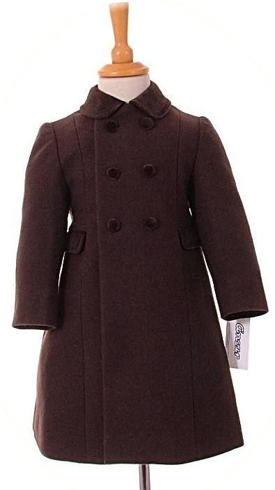 19a5996cb Children's traditional coats from Spain. Classic winter coats for girls and  boys available in sizes 12 months to 8 years.
