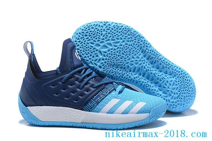 2018 Latest James Harden Mens Basketball Shoes Harden Vol.2 Blue White Basketball  Sneakers de2cfa9e4