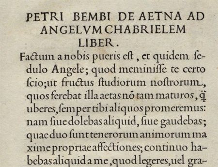 De Aetna Written By Pietro Bembo Printed By Aldo Manuzio In 1495