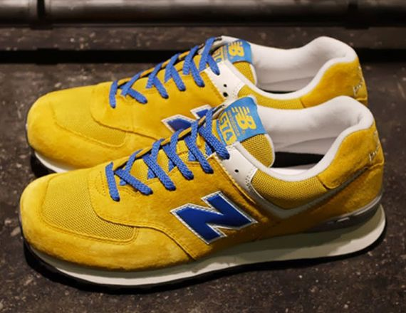 innovative design cb89b 8b35f New Balance 574 - Yellow - Blue - White - SneakerNews.com ...