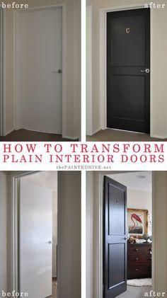 An Easy And Effective Door Refresh Diy Interior Doors Wood