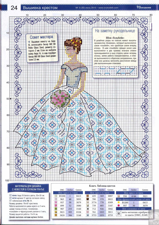 Free Cross Stitch Pattern - Bride | Cross-stitch Holidays ...