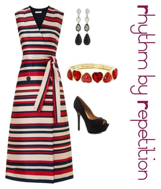 """Rhythm by Repetition"" by explorer-145711937110 on Polyvore featuring Tome, Qupid, Oscar de la Renta and Liz Claiborne"