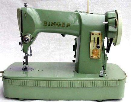 Vintage Singer 40K Sewing Machine With Case Sew Fun Gorgeous Singer Green Sewing Machine