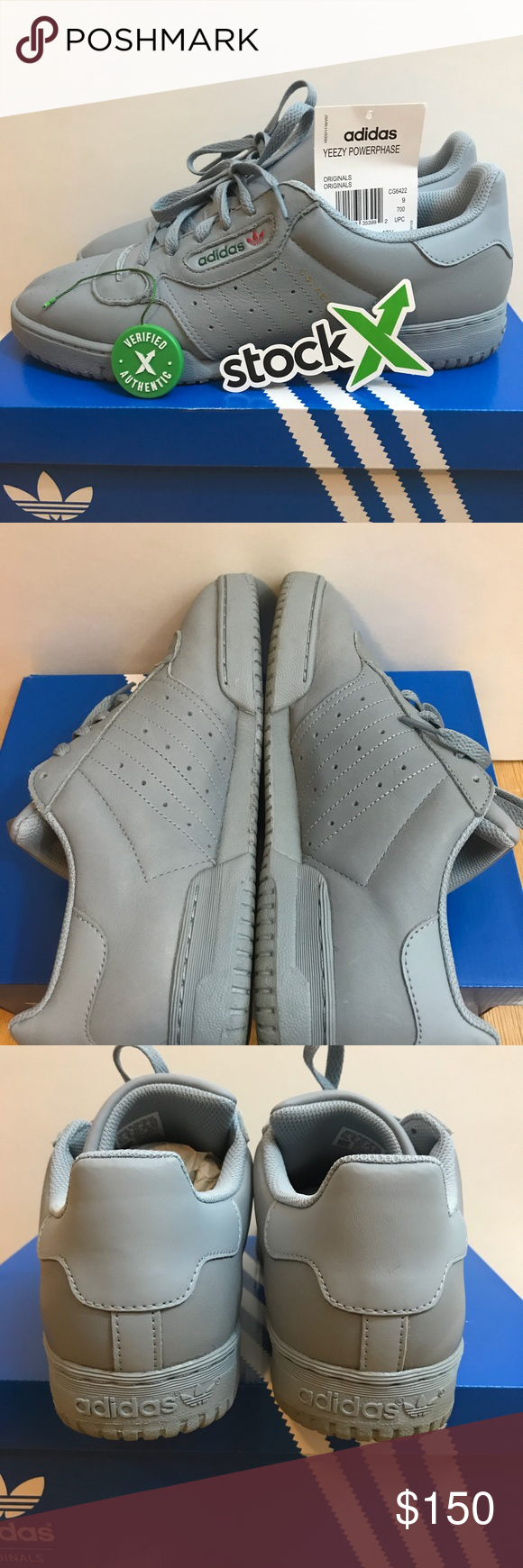 9268de79 Adidas Yeezy Powerphase Calabasas Grey sz 9.5 StockX verified Yeezy  Powerphase sz 9.5 Grey. Worn 2 times. Comes with Og box adidas Shoes  Athletic Shoes