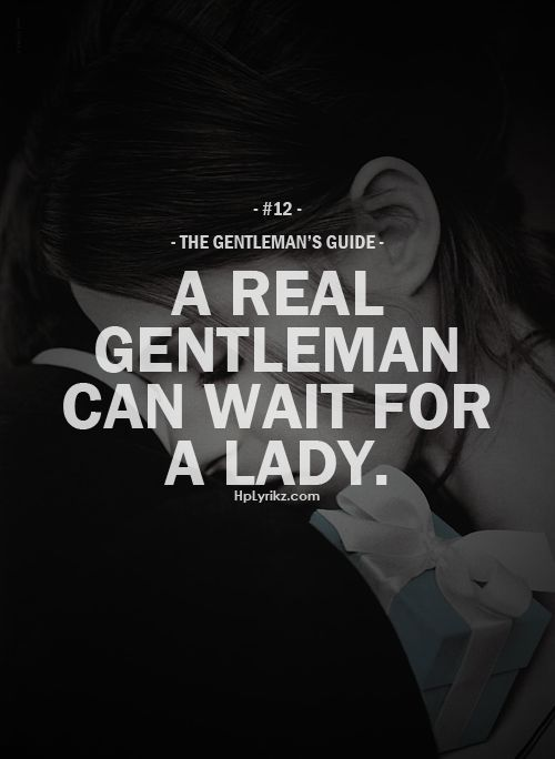 Dating a gentleman quotes
