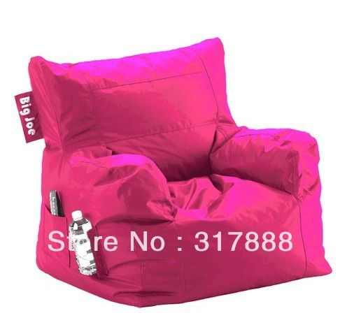 Freeshipping Comfort Research Big Joe Dorm Bean Bag Chair In HOT PINK Modern New Design