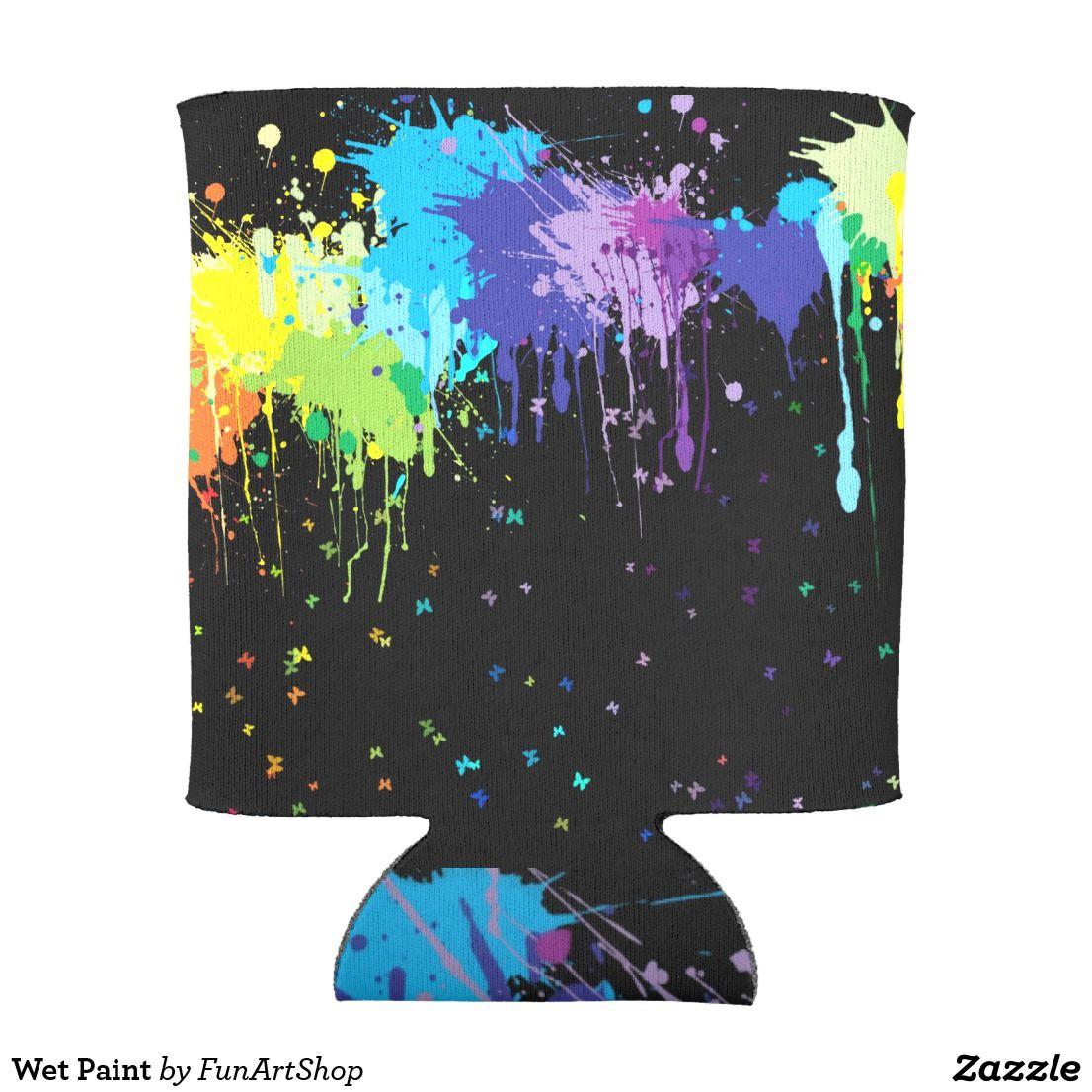Wet Paint Can Cooler Zazzle Com Rainbow Wallpaper Rainbow