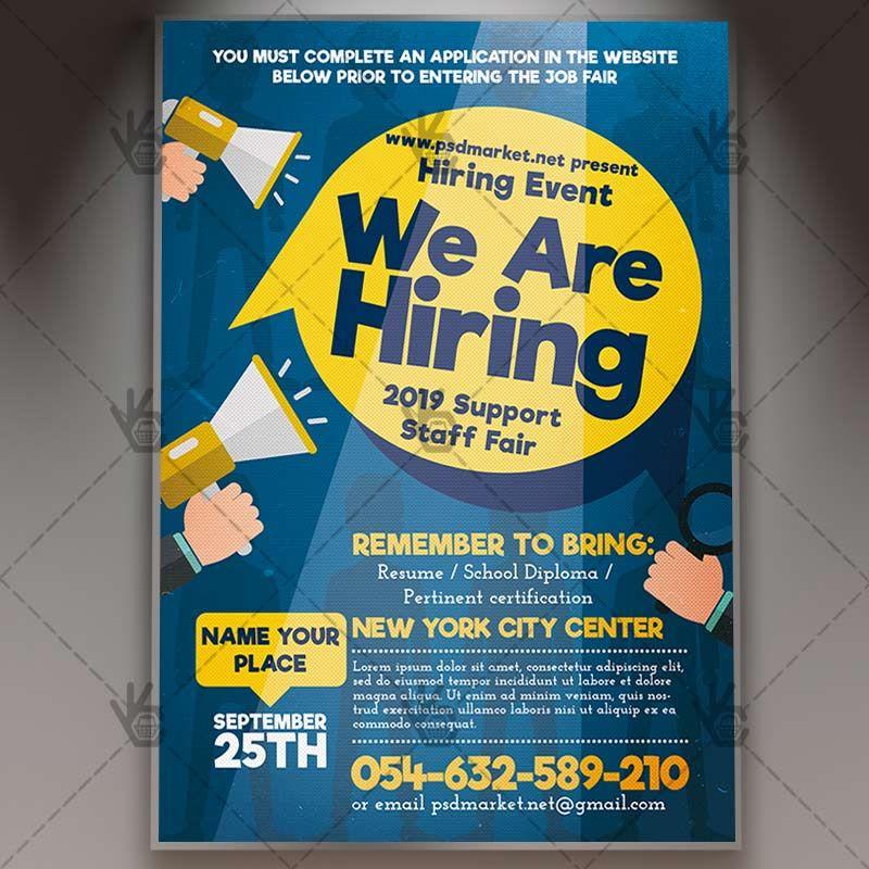 Download Hiring Job Flyer Psd Template Psdmarket Psd Templates Job Fair Brochure Design Template