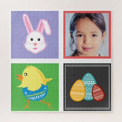 Colorful cute easter bunnies and eggs custom photo jigsaw puzzle colorful cute easter bunnies and eggs custom photo jigsaw puzzle happy easter egg holiday family diy custom personalize negle Gallery