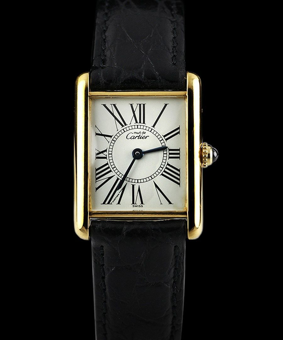 Cartier Watches Cartier Women S Must De Tank Watch Designer Jewellery Sale