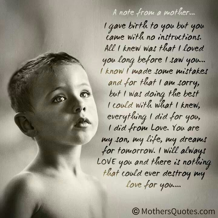 A Note From Me To You Son Favorite Sayings Son Quotes Sons