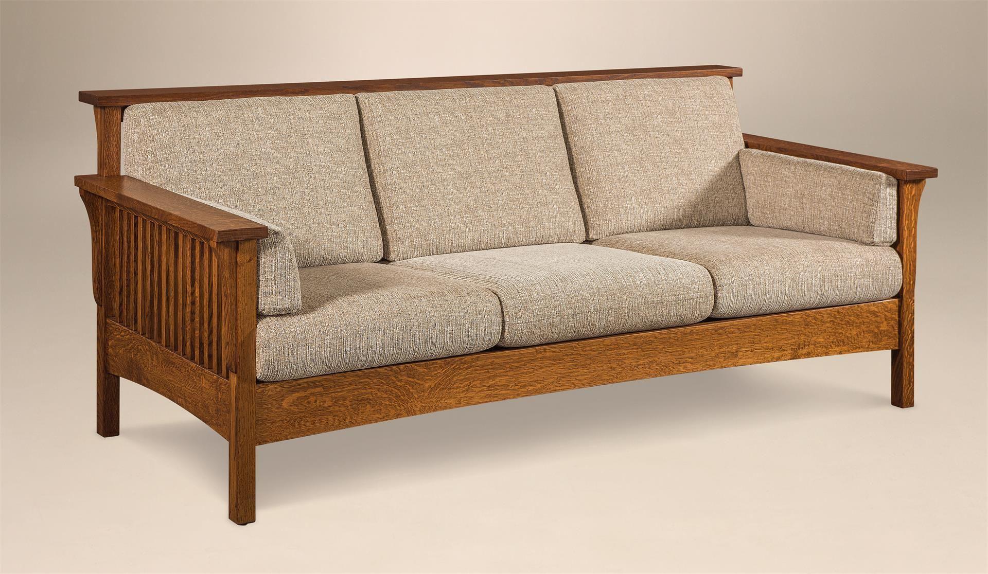 Marvelous Amish High Back Slat Mission Sofa In 2019 Sofa Ideas Inzonedesignstudio Interior Chair Design Inzonedesignstudiocom