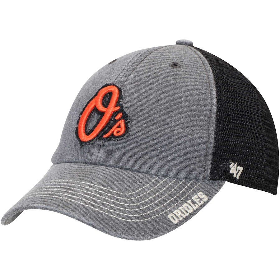 on sale 6ed46 989e5 ... promo code for mens baltimore orioles 47 black burnstead clean up  trucker adjustable hat your price