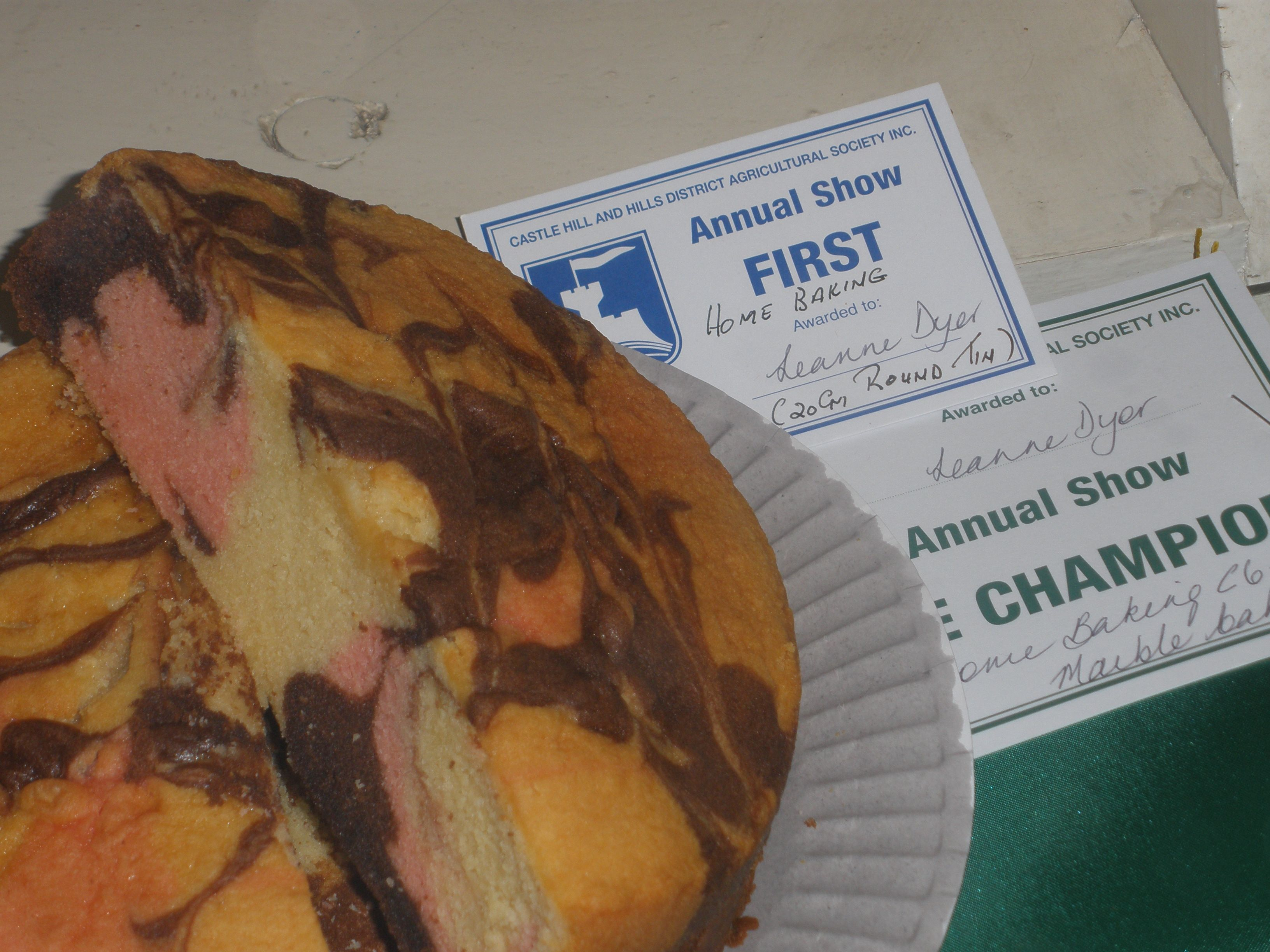 2016 castle hill show 1st reserve champion marble cake
