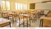 Lecture room or School empty classroom with high school of secondary education with whiteboa Lecture room or School empty classroom with high school of secondary educatio...