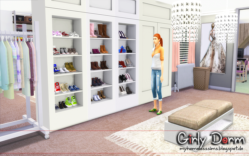 From The Lot Quot Girly Dorm Quot My Sims 4 Walk In Closets