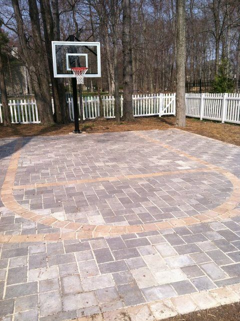 Basketball court for the backyard without looking like a for Build a basketball court