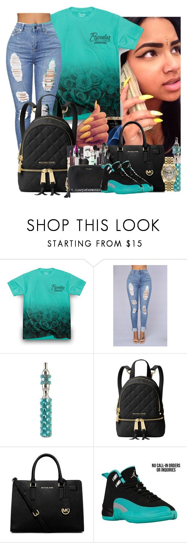 """""""If You Ain't Talking Money , I Don't Wanna Talk 🙄🤑🤘🏽"""" by xrated-trends ❤ liked on Polyvore featuring Samsung, Michael Kors, MICHAEL Michael Kors and Rolex"""