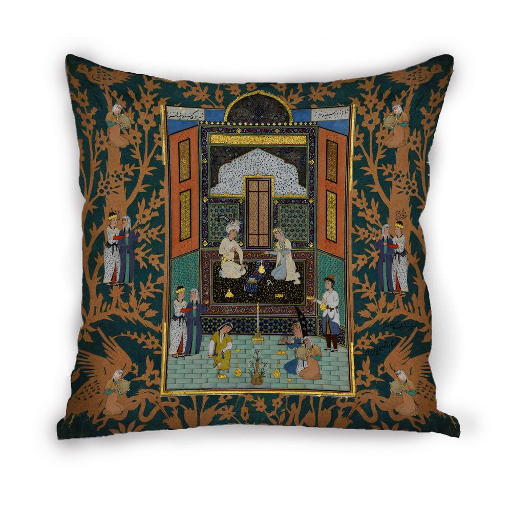 Taie D Oreiller A Personnaliser shahnameh ll calligraphy miniature cushion cover pillow case