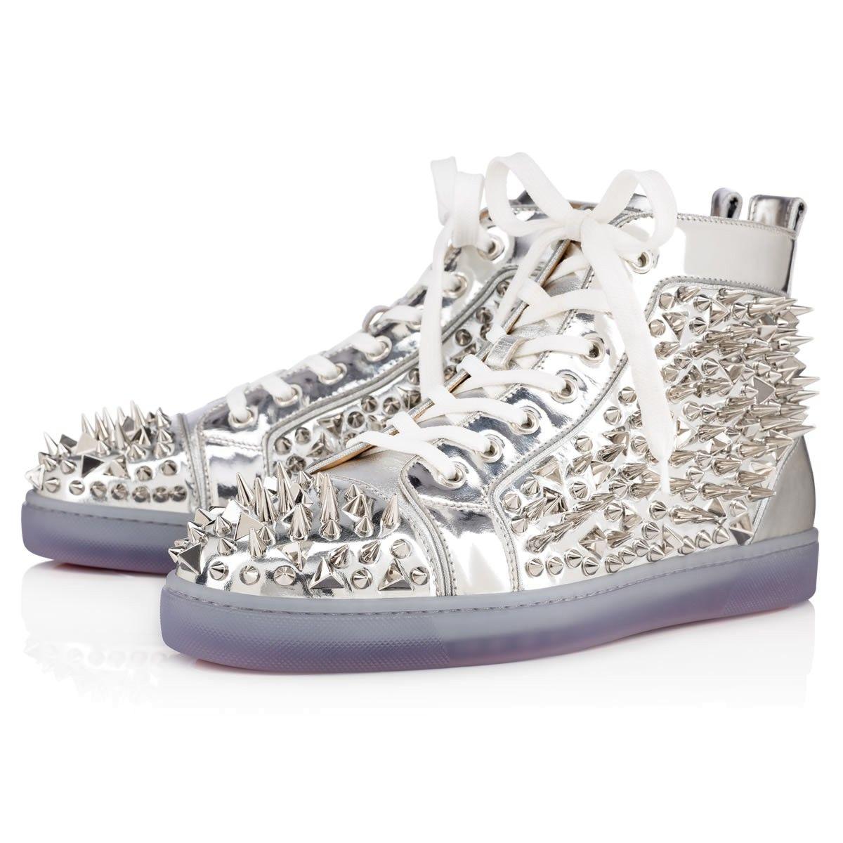 f2362b9334b CHRISTIAN LOUBOUTIN Louis Pik Pik Orlato Sp Nappa Laminato Silver Lambskin  - Men Shoes - Christian Louboutin.  christianlouboutin  shoes